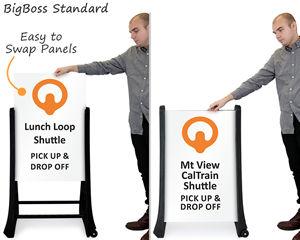 Custom A-Frame Sandwich Board Signs