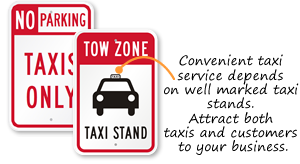 Taxi Parking Signs