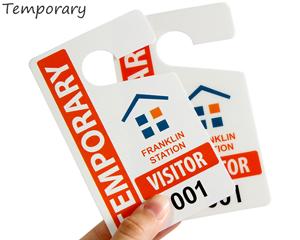Temporary parking tags