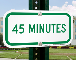 Supplemental Time Limit Parking Signs