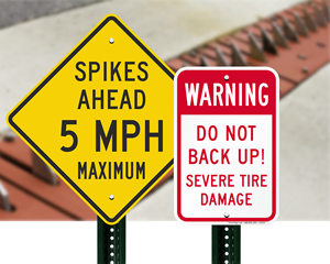 Tire damage signs
