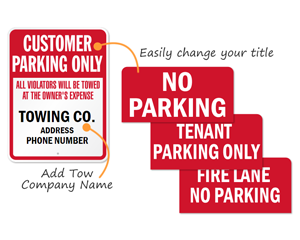 Custom Tow Company Signs
