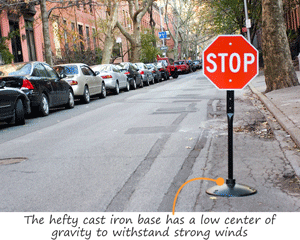 Traffic sign base