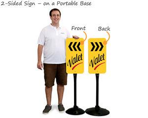 Valet parking signage