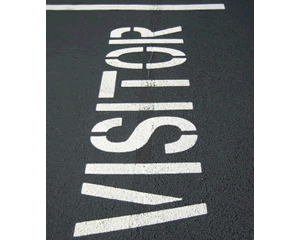 Visitor Parking Stencils Signage