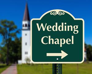 Wedding chapel sign