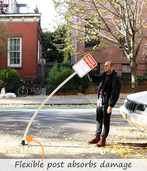 Flexible plastic sign posts