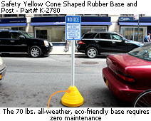 Yellow Coned Shaped Sign Base
