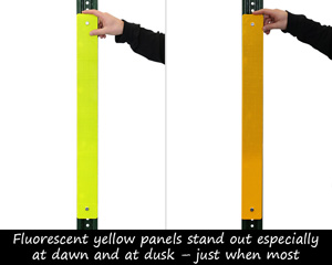 Yellow post panels