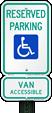 Accessible Van Parking Signs