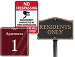 Apartment Signs by Category