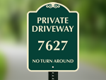 Custom Designer Signs for Your Driveway