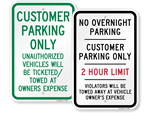 Looking for Customer Parking Signs?
