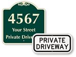 Looking for Private Driveway Signs?