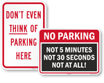 """""""Edgy"""" No Parking Signs"""