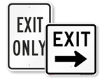 Exit Only Signs