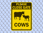 Protect Our Livestock Signs