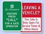 Custom Gate Signs