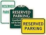 In-Stock Reserved Parking Signs