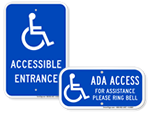 Looking for ADA Accessible Entrance Signs?