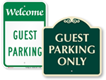 Looking for Guest Parking Signs?