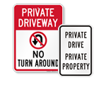 More Driveway Signs