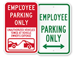 More Employee Parking Signs