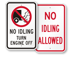 More No Idling Signs