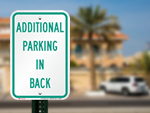 More Parking in Back Signs