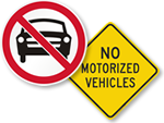 No Motorized Vehicles Allowed