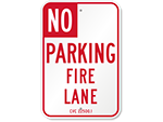 Official State Fire Lane Signs