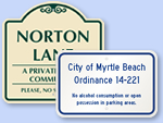 Custom Beach Parking Signs