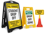 Portable Drop Off & Pick Up Signs