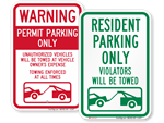 Looking for Tow Away Signs?