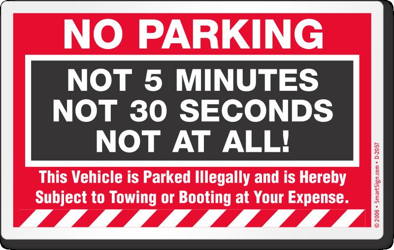 Reflective No Parking Sign Sku K 2541