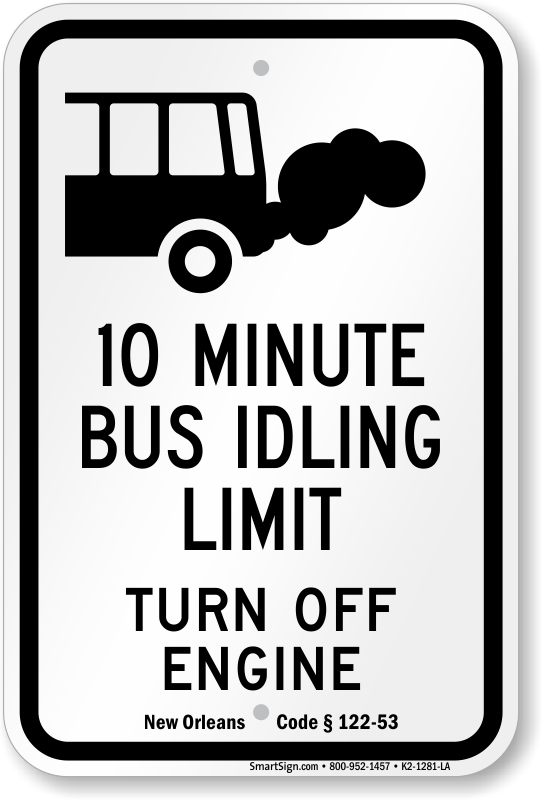 State By State No Idling Signs