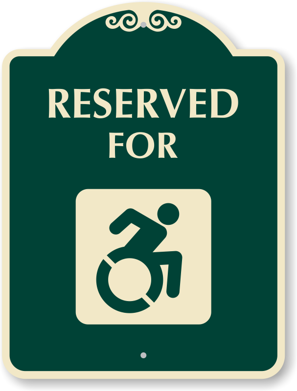 signaturesign reserved for sign new accessible symbol sku k 4977 n