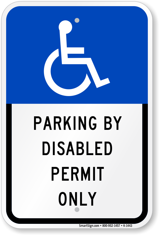 Florida Handicapped Parking By Disabled Permit Only Sign, SKU: K-1443