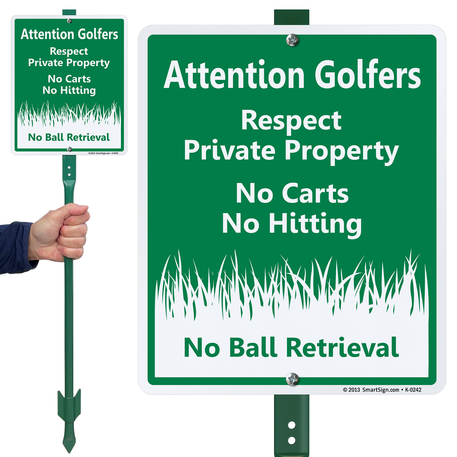 No Carts No Hitting - Attention Golfers Private Property