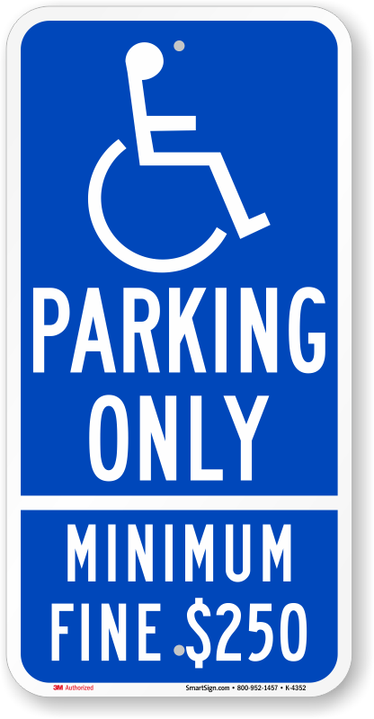 Ada Parking Signs Handicapped Parking Signs