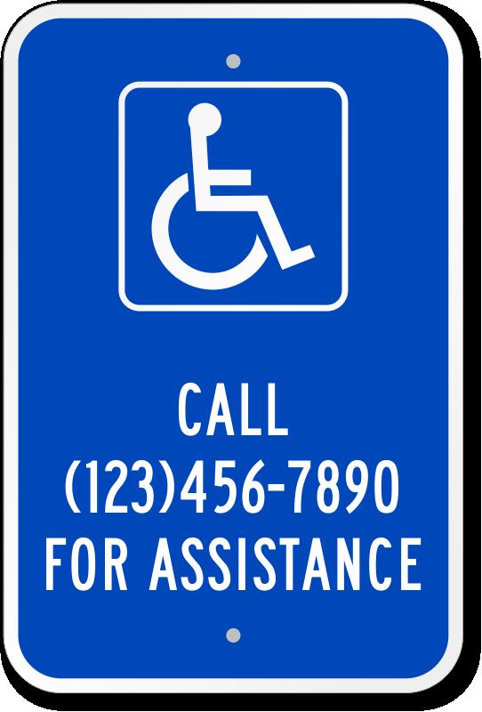 Custom Ada Handicap Signs Create Your Own Access Sign