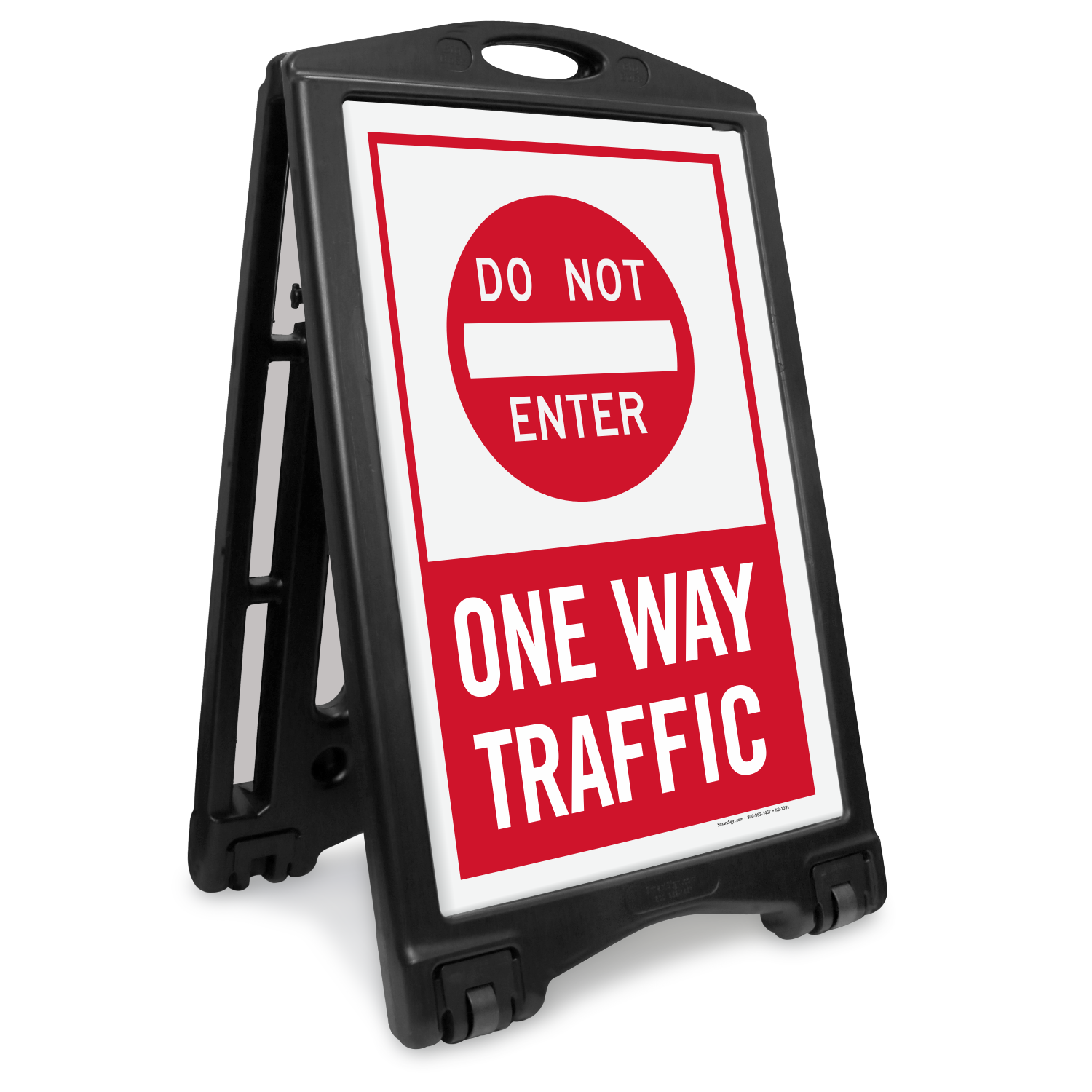 Dont Enter One Way Traffic Portable Sidewalk Sign Sku K Roll 1189