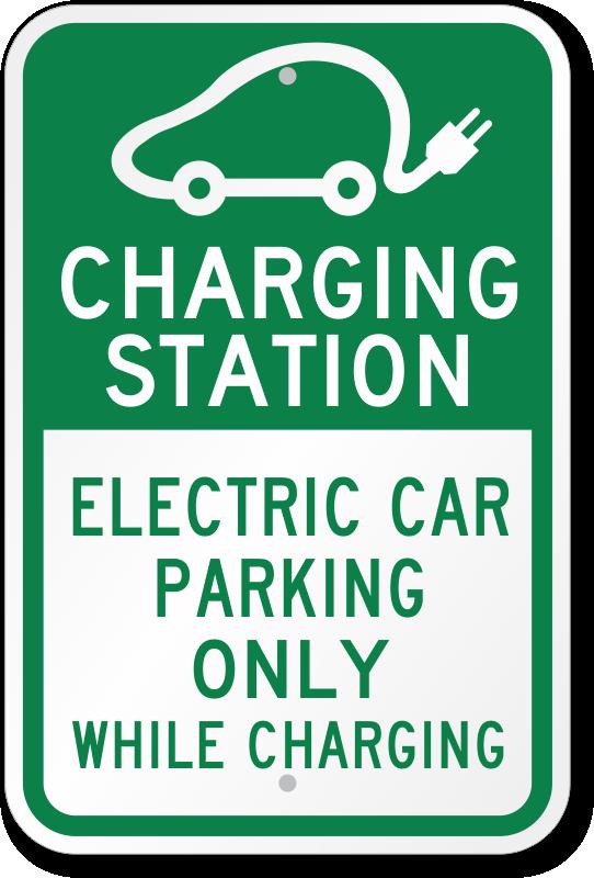 Charging Station Electric Car Parking Sign Sku K 0338