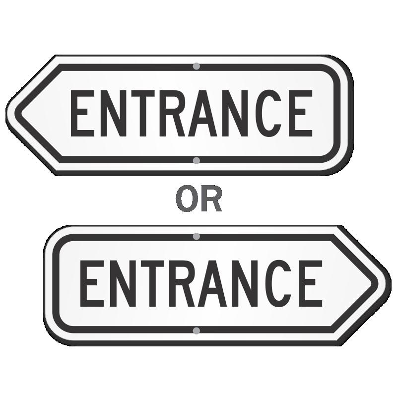entrance signs parking lot entrance garage entrance signs