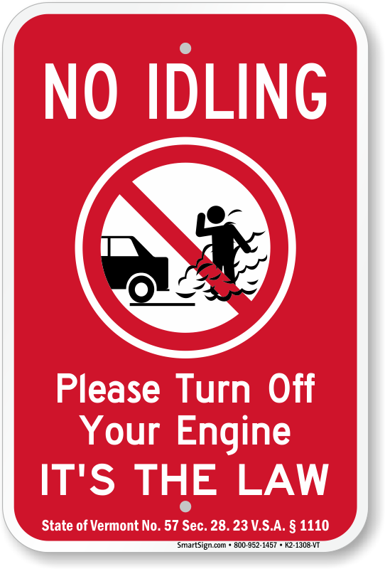 State Idle Sign for Vermont, SKU: K2-1308-VT