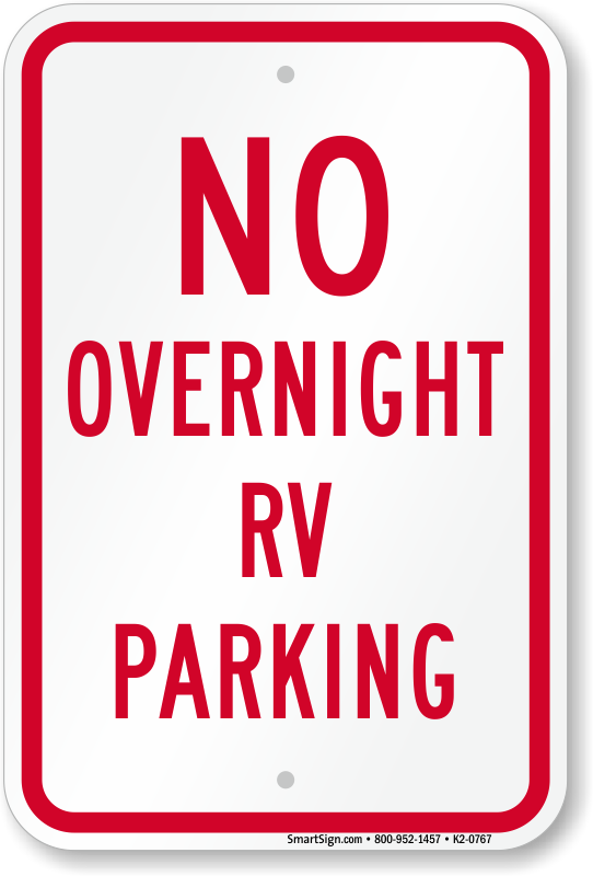 No Overnight Parking Signs Free Shipping From MyParkingSign