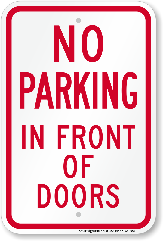 Zoom Price Buy  sc 1 st  MyParkingSign : door blocked sign - pezcame.com