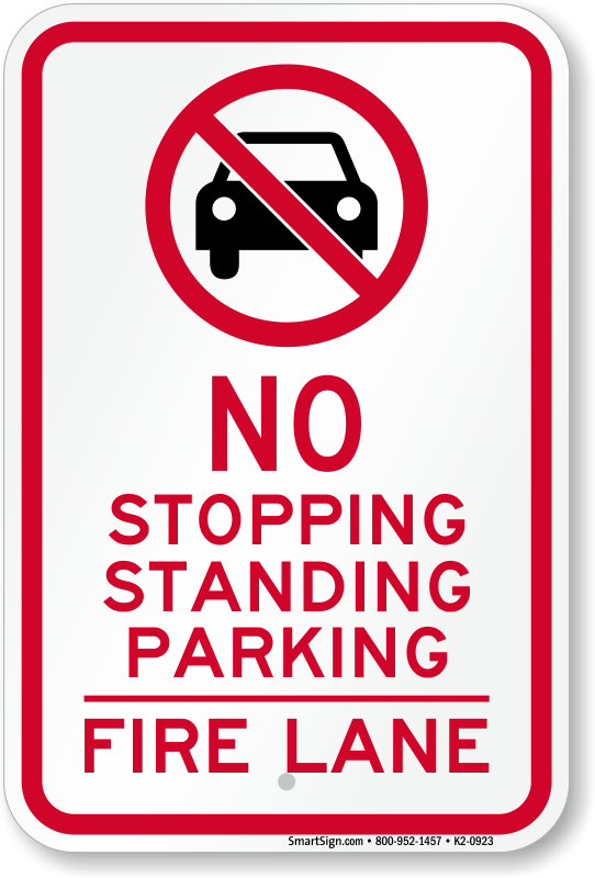 No Parking Or Stopping Sign Sku K2 0923