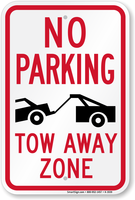 large no parking signs custom stock templates