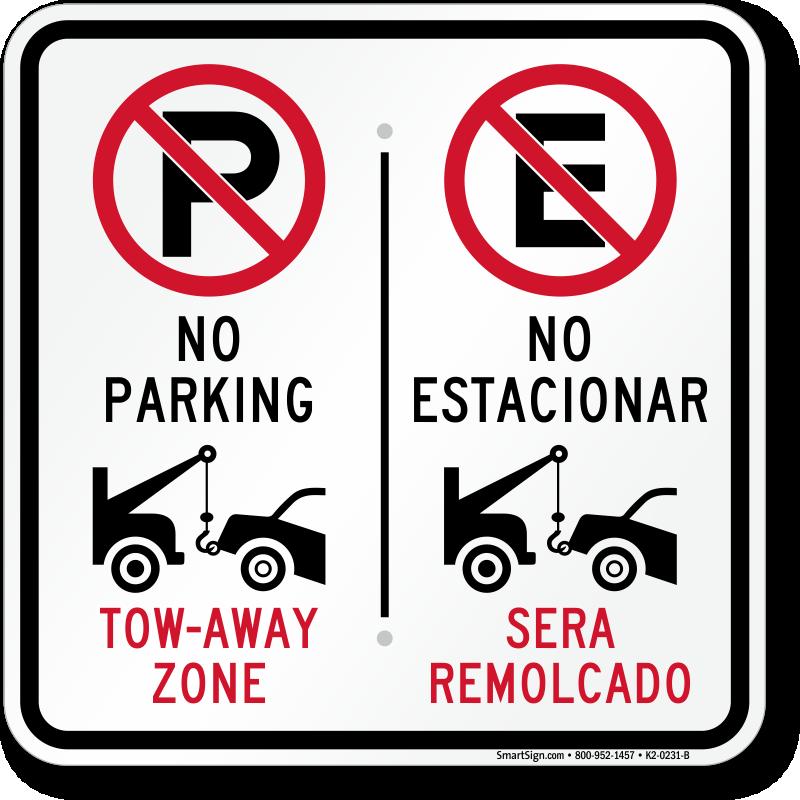No Car Parking Signs